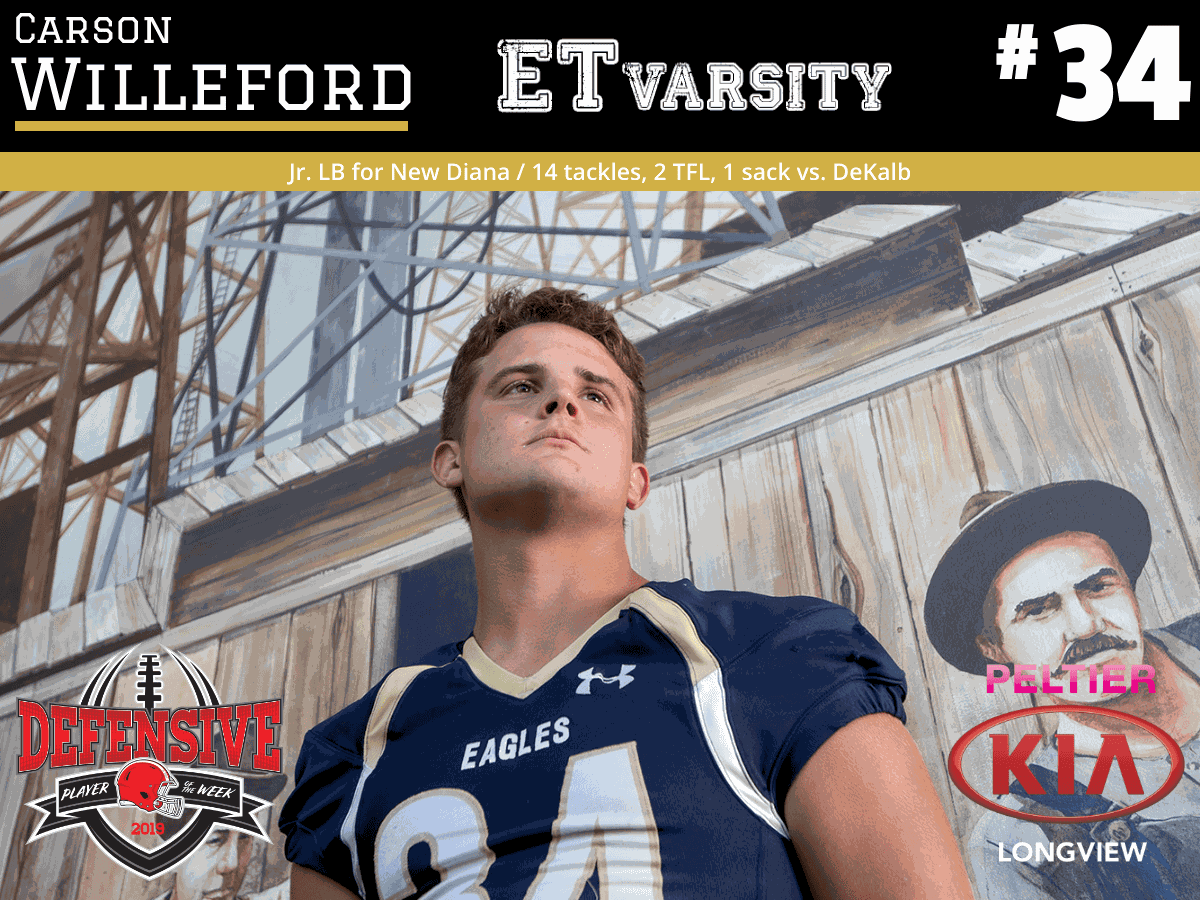 Week 9 2019 Defensive Player of the Week: Carson Willeford, New Diana