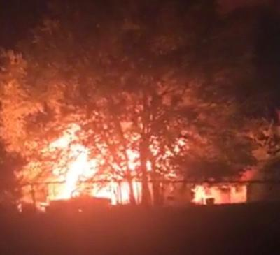 Marshall firefighters battle two early morning blazes Monday
