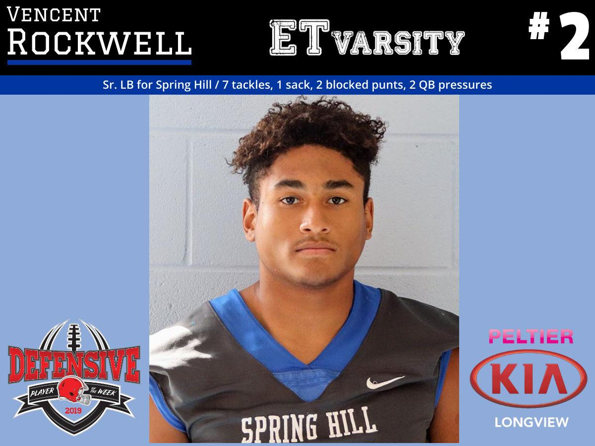 Week 4 2019 Defensive Player of the Week: Vencent Rockwell, Spring Hill