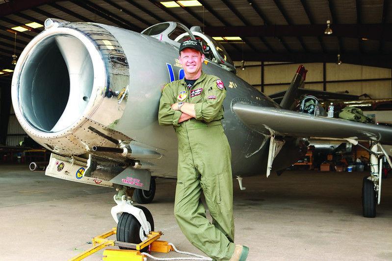air show jets at Tyler's Historic Aviation Memorial Museum before Cedar Creek air show