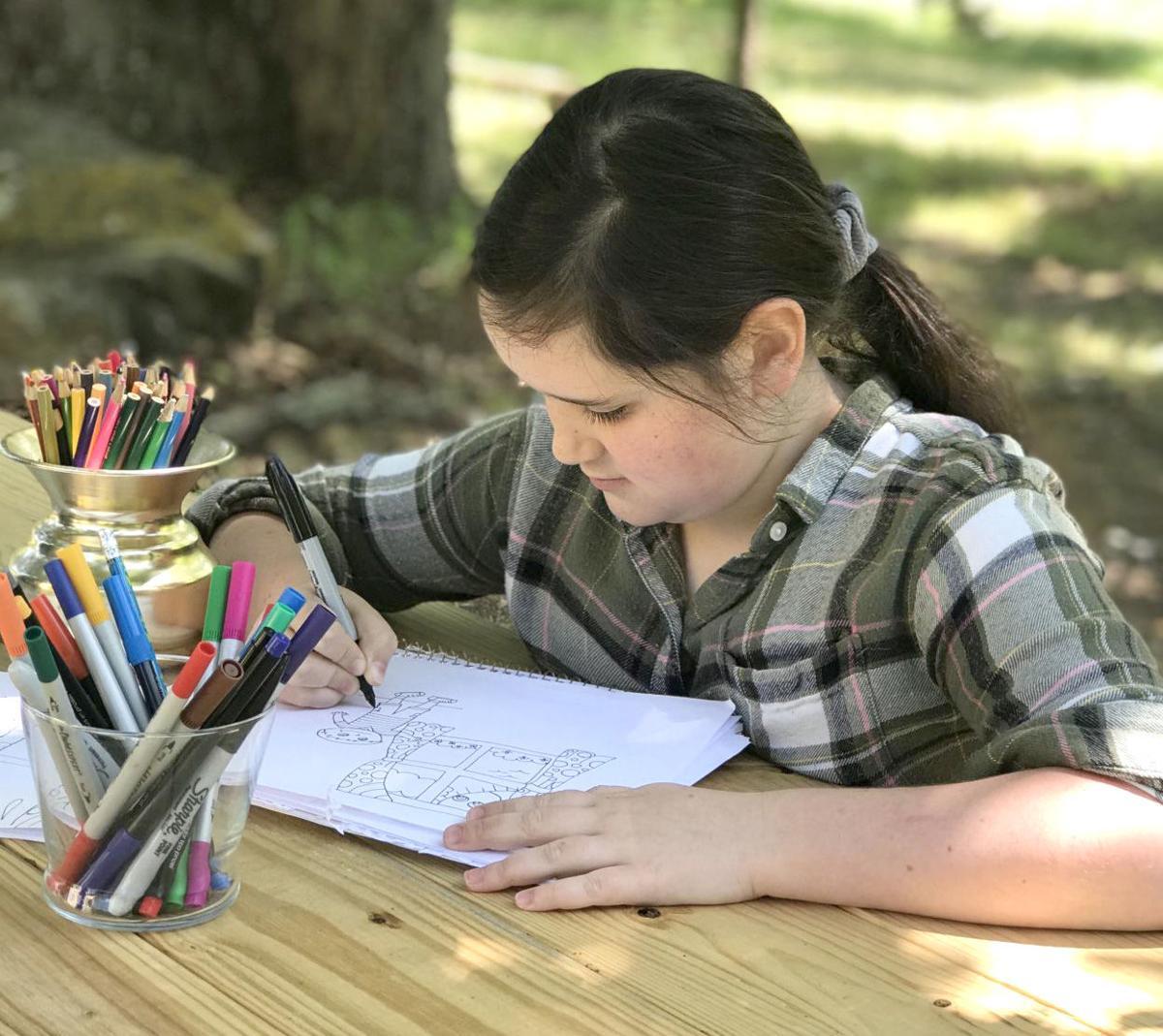 Miranda illustrating outdoors