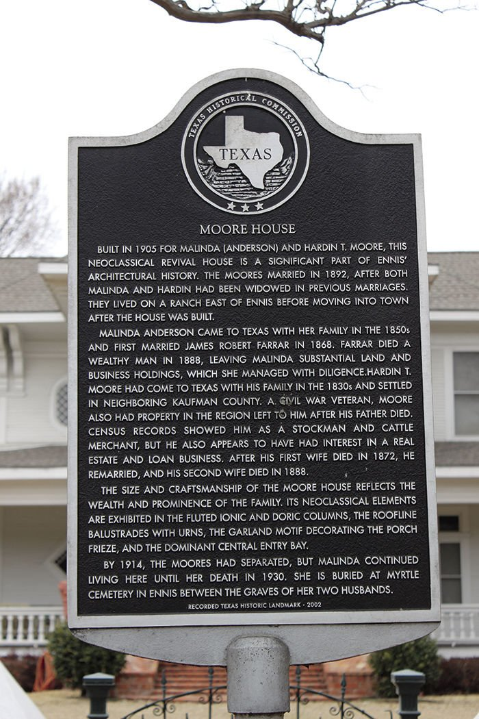 Moore House Placard