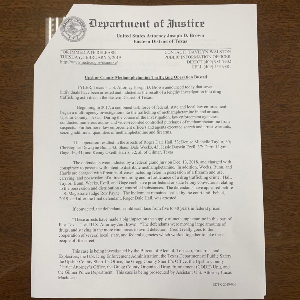 U S  attorney: Operation, arrests make 'big impact' on East Texas