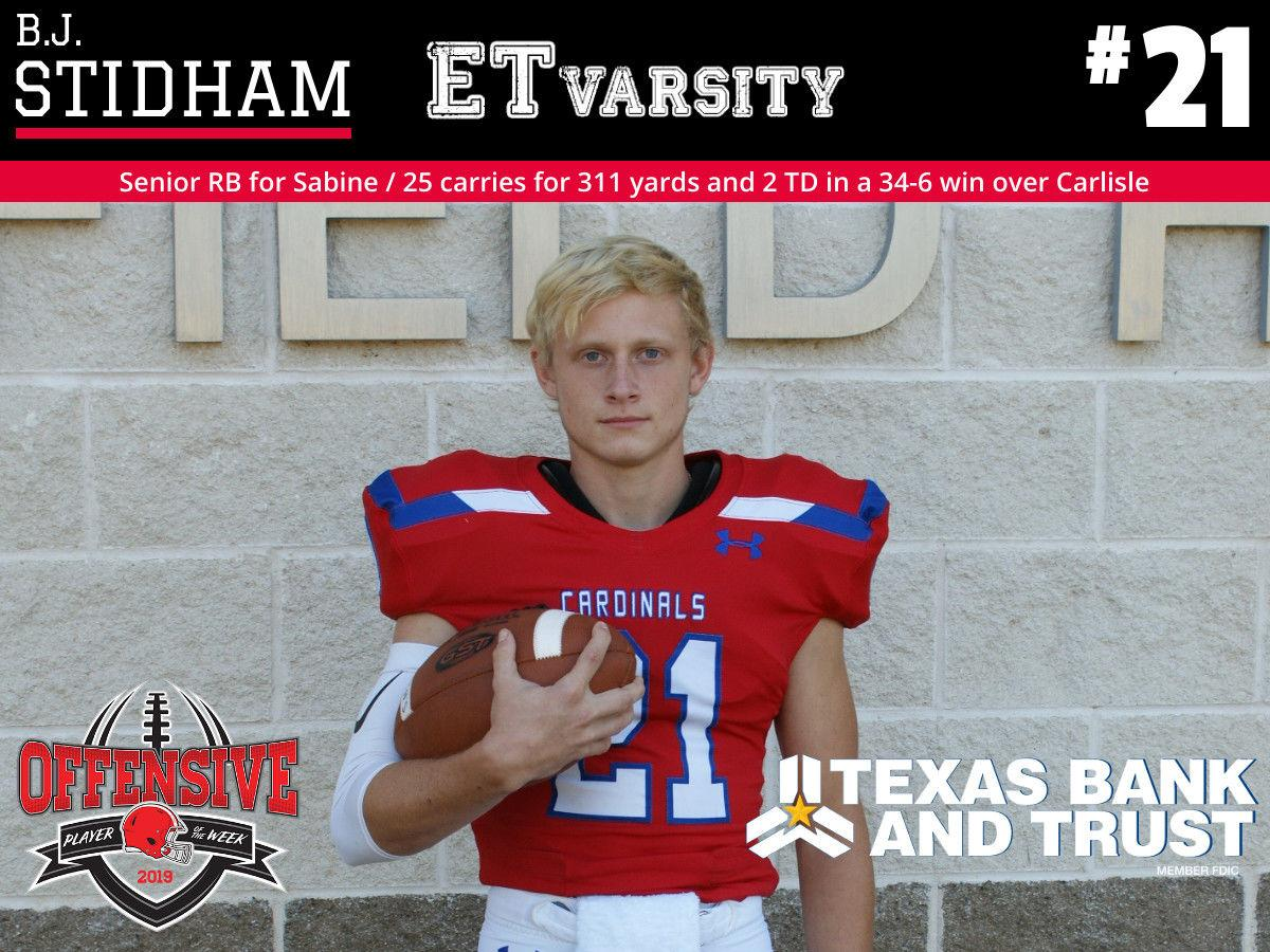 Week 1 2019 Offensive Player of the Week: B.J. Stidham, Sabine