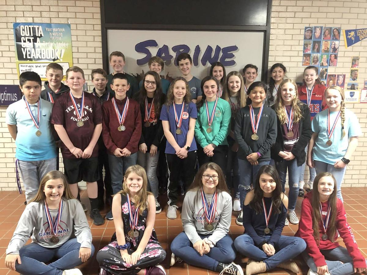 Sabine Middle TMSCA contest