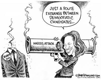 Harris attacks Biden