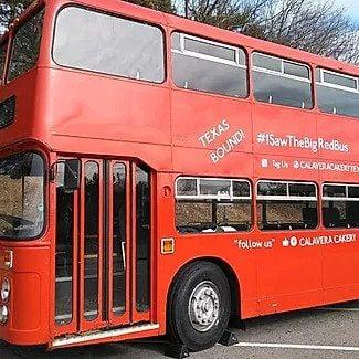 Calavara Cakery's red bus