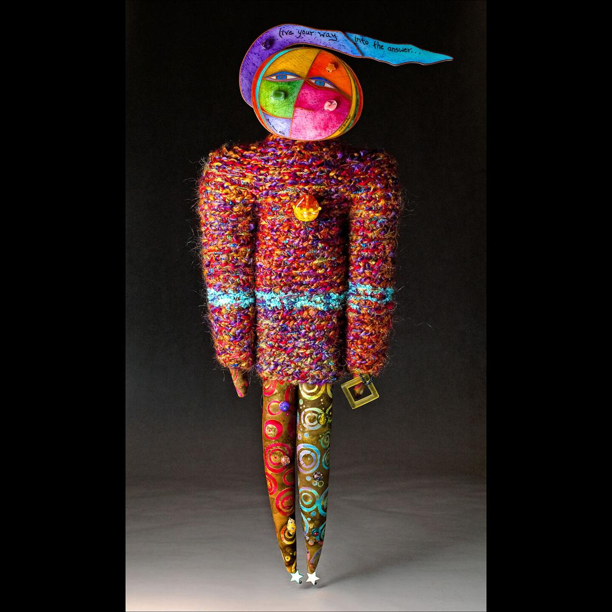Mixed media soft sculpture