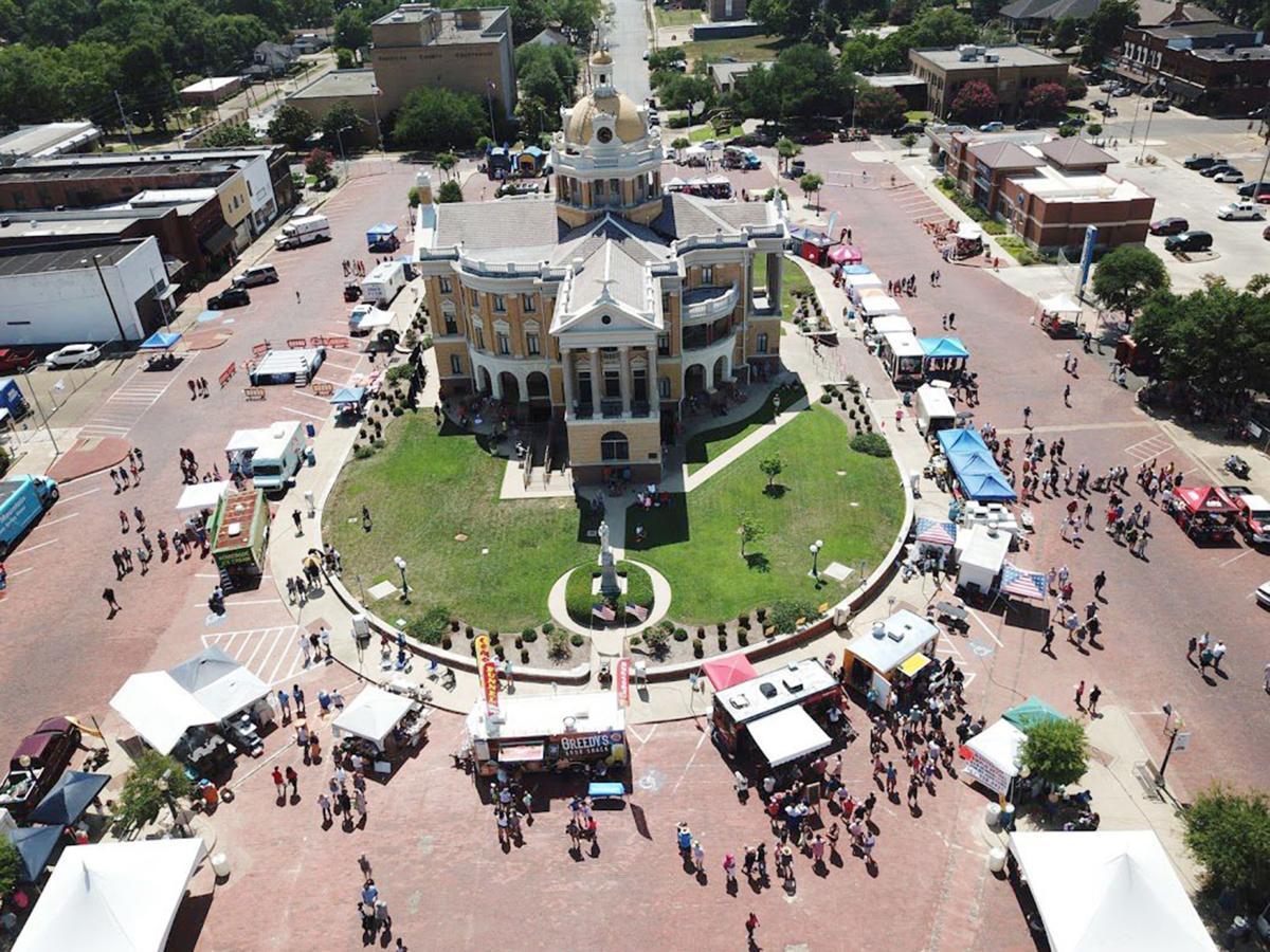 Taco Fest Drone Shot