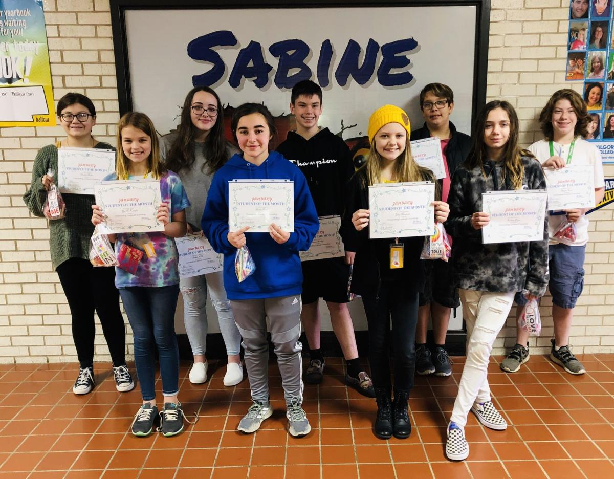 Sabine Middle School January students of the month