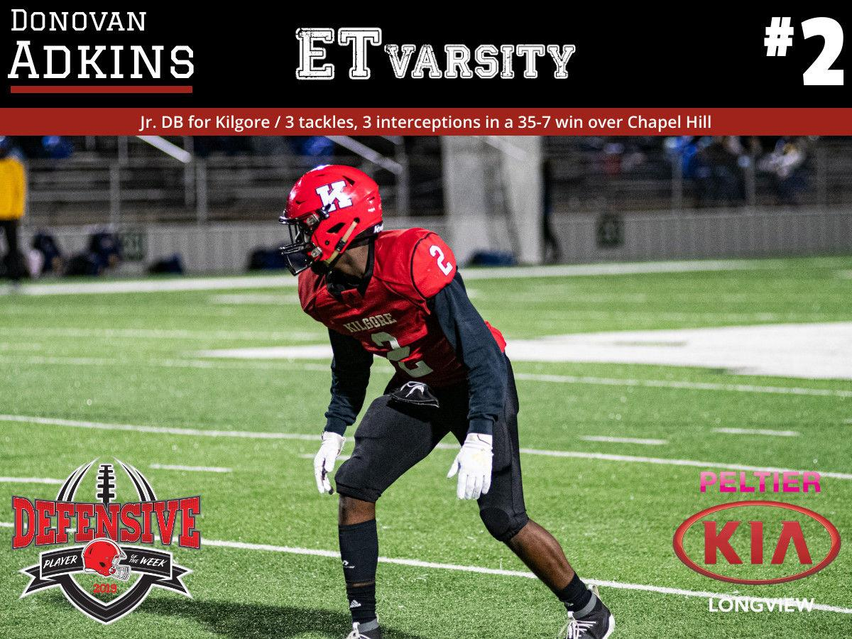 Week 7 2019 Defensive Player of the Week: Donovan Adkins, Kilgore