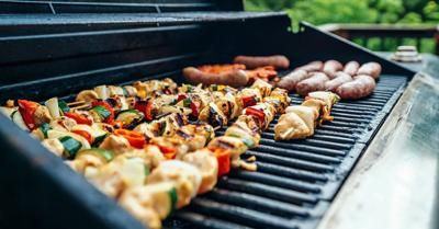 Grilling can be a relaxing activity