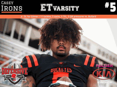 Week 6 2019 Defensive Player of the Week: Casey Irons, Gilmer