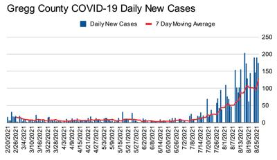 New Gregg County cases