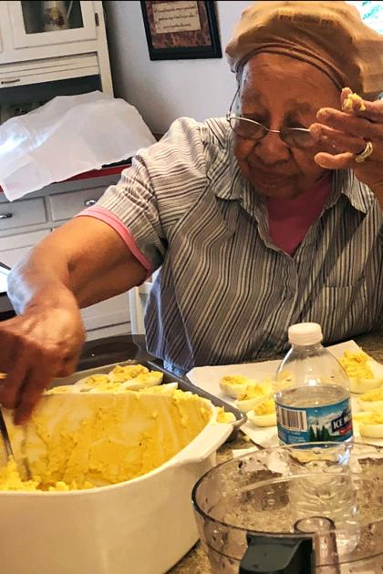 on the menu at the edna lewis family reunion deviled eggs peach cobbler and pride food news journal com