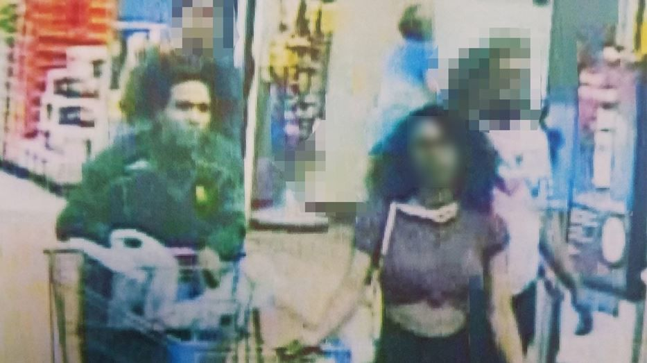 Police are searching for a woman who licked a tub of ice cream