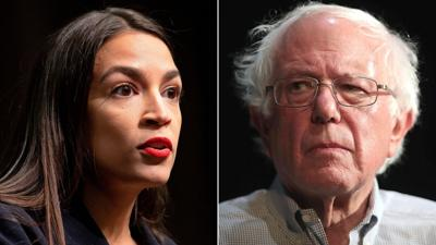 'No middle ground': Ocasio-Cortez and activists take aim at Biden at Green New Deal rally