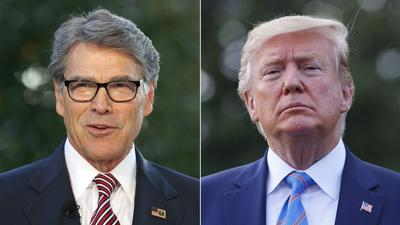 Rick Perry and Donald Trump combo photo
