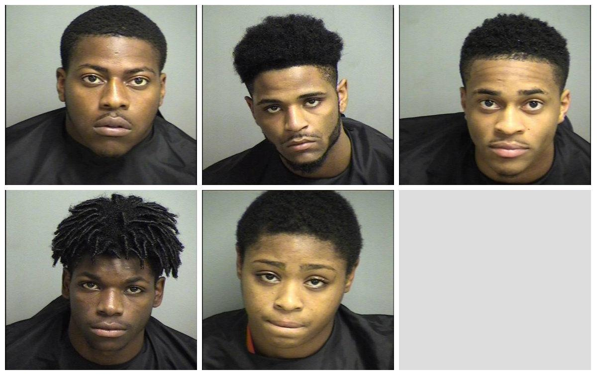Five charged with armed robbery in Appomattox