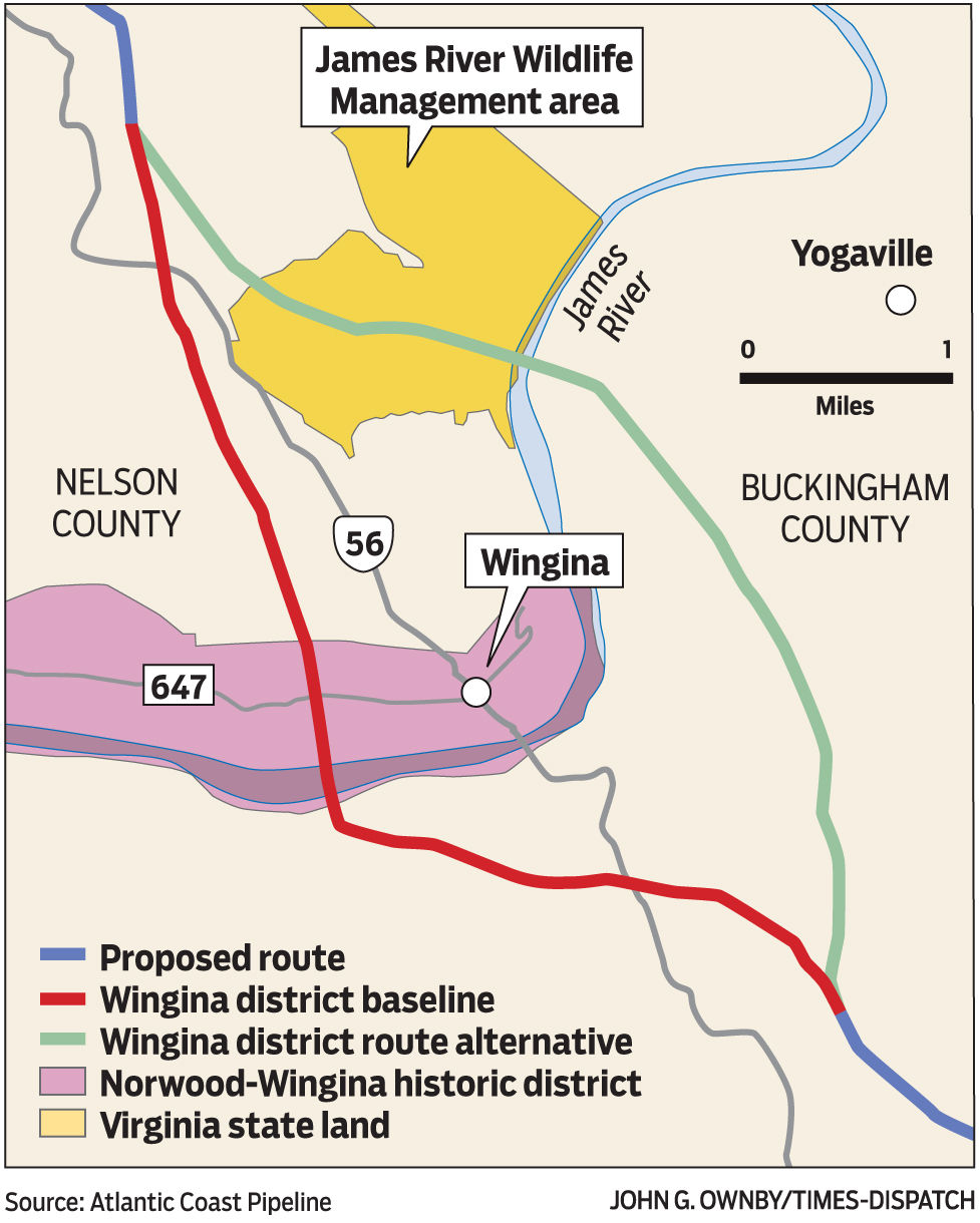Updated: New pipeline route bypes Wingina historic ... on
