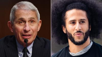 Kaepernick and Fauci will be honored as Robert F. Kennedy Human Rights award laureates
