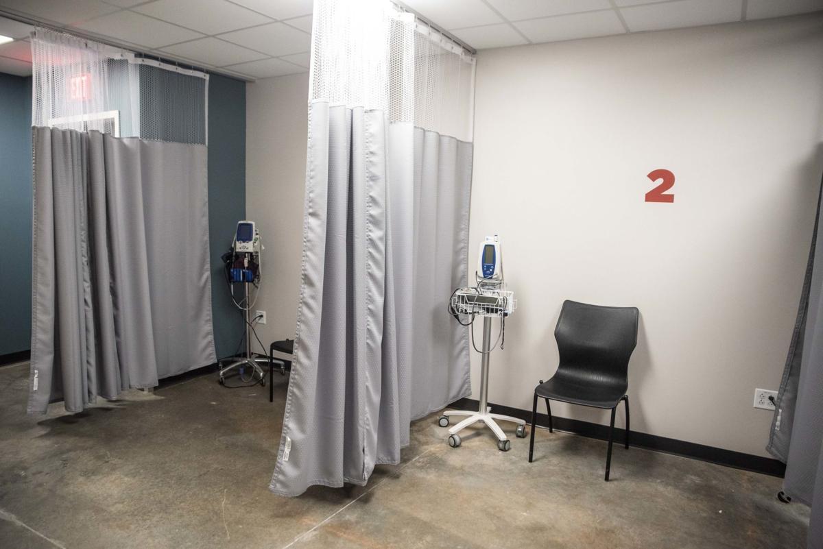 Liberty University health triage - patient rooms
