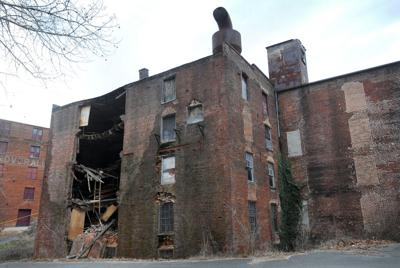 Partial building collapse in Lynchburg