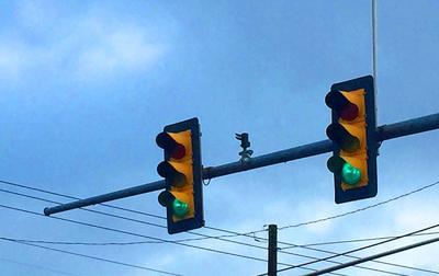 Traffic lights driving roads stoplight generic stock image