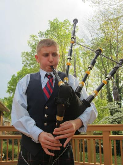 Bagpipe playing 13 year old part of musical family | From
