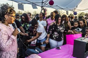 Mothers embrace family of slain Appomattox woman at vigil