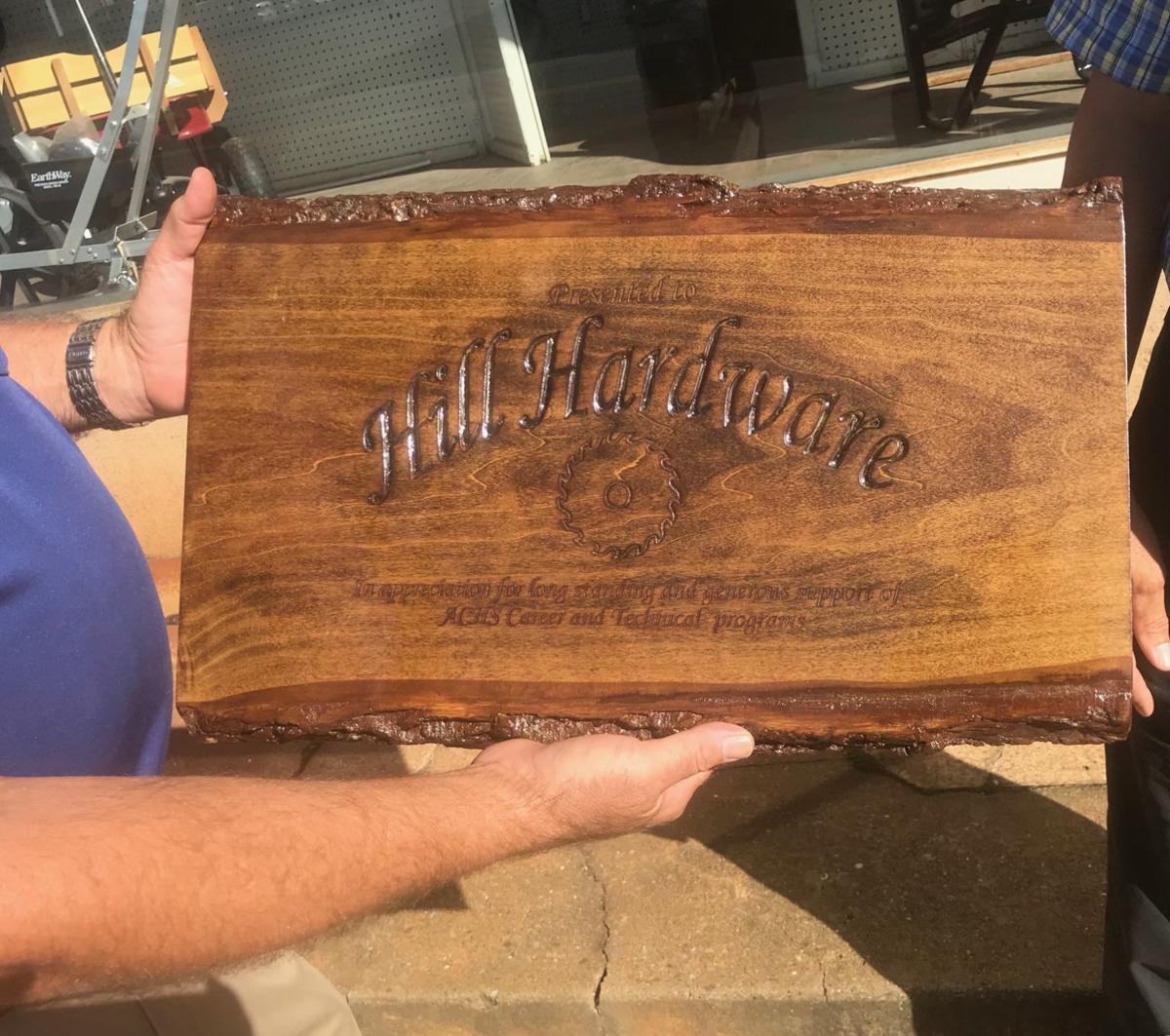 Hill Hardware plaque