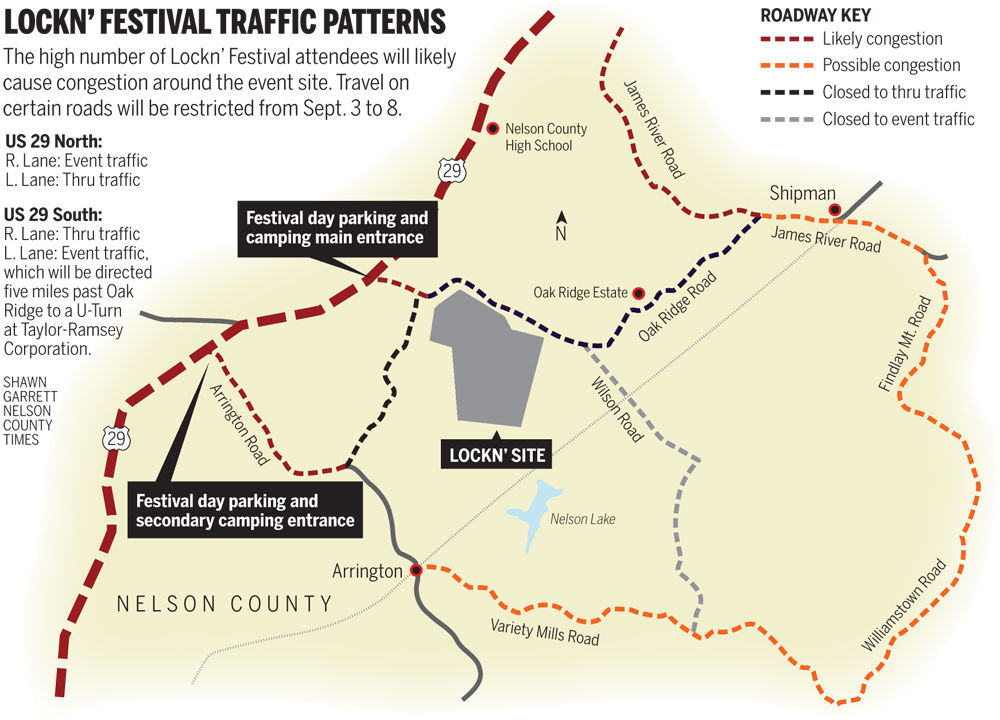 Vdot Traffic Map.Vdot Lays Out Traffic Plans For Lockn Weekend Nelson News