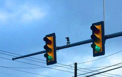 Traffic lights generic stock photo