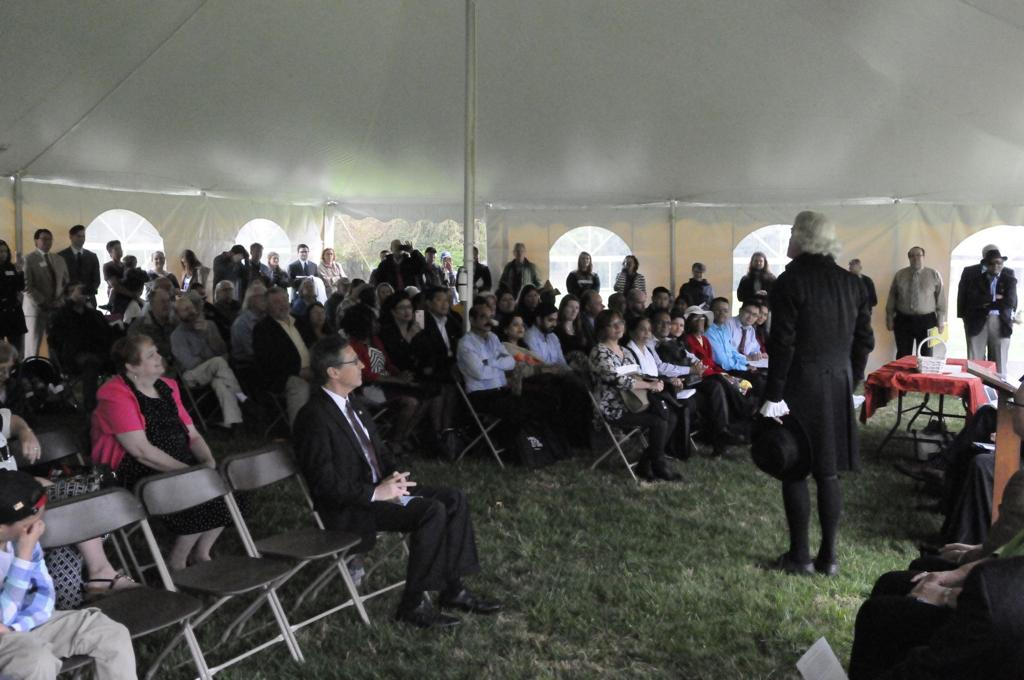 New U S  citizens welcomed to 'melting pot' at Poplar Forest