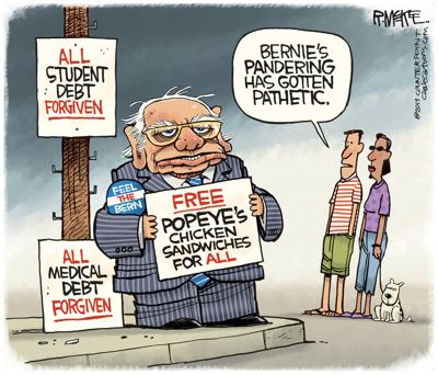 Sanders Panders