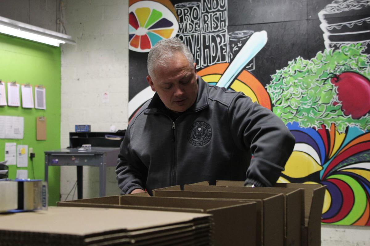 Riggleman visits Blue Ridge Area Food Bank