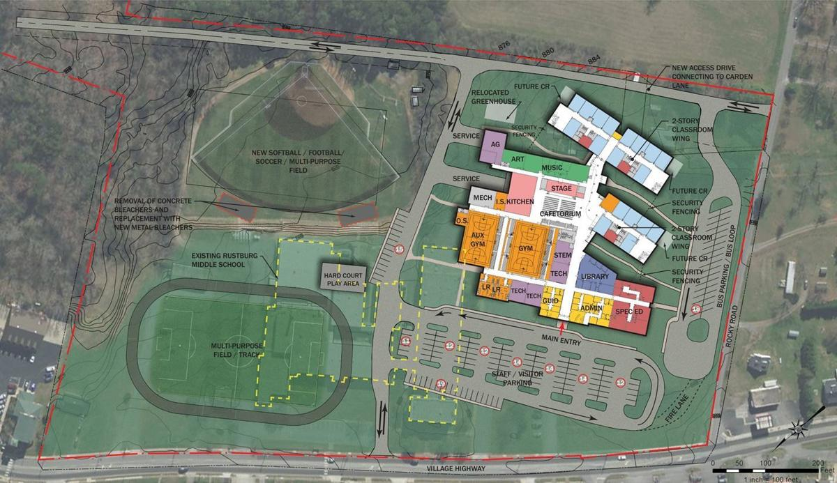 Rustburg Middle School site plan
