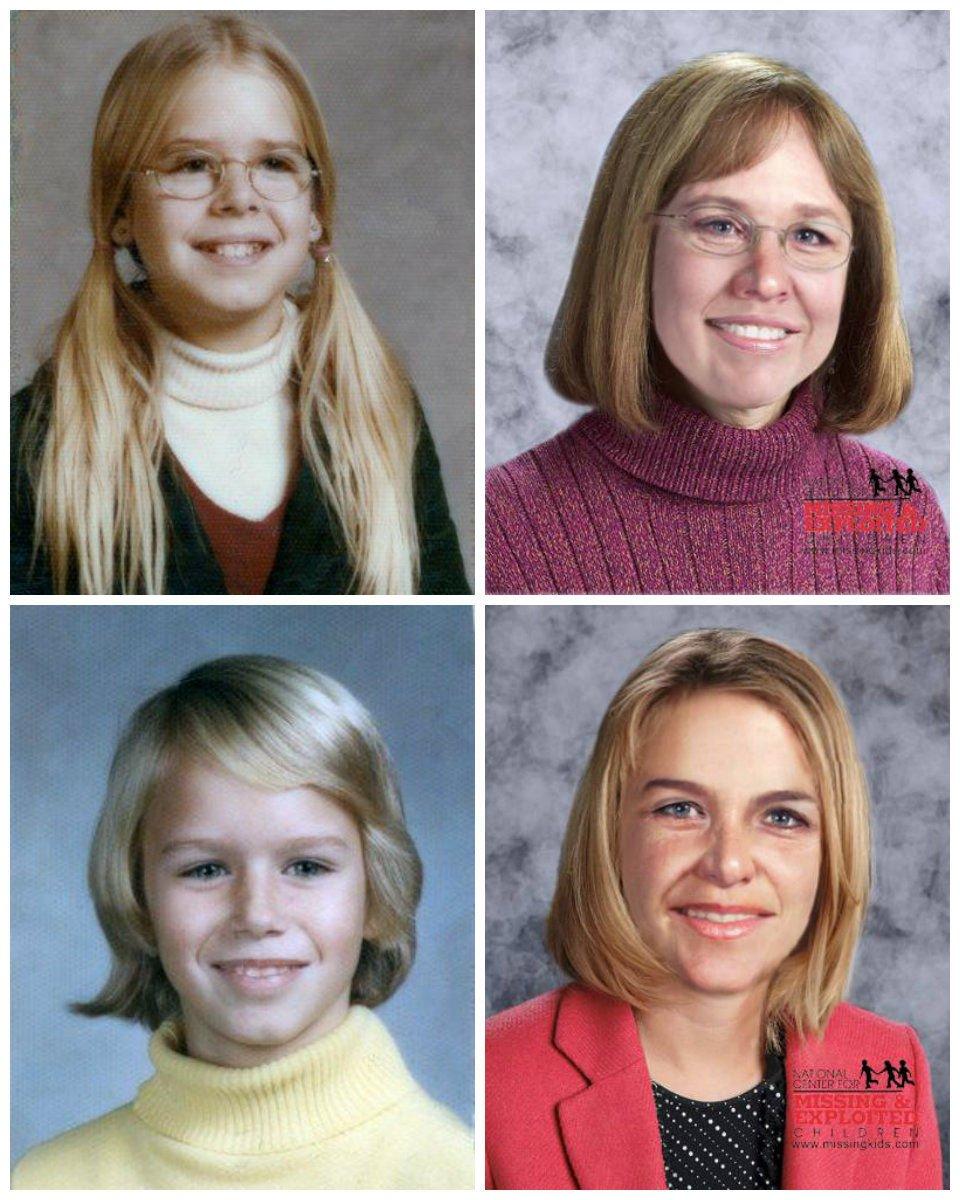Katherine and Sheila Lyon - Child Photos vs. Age Progression