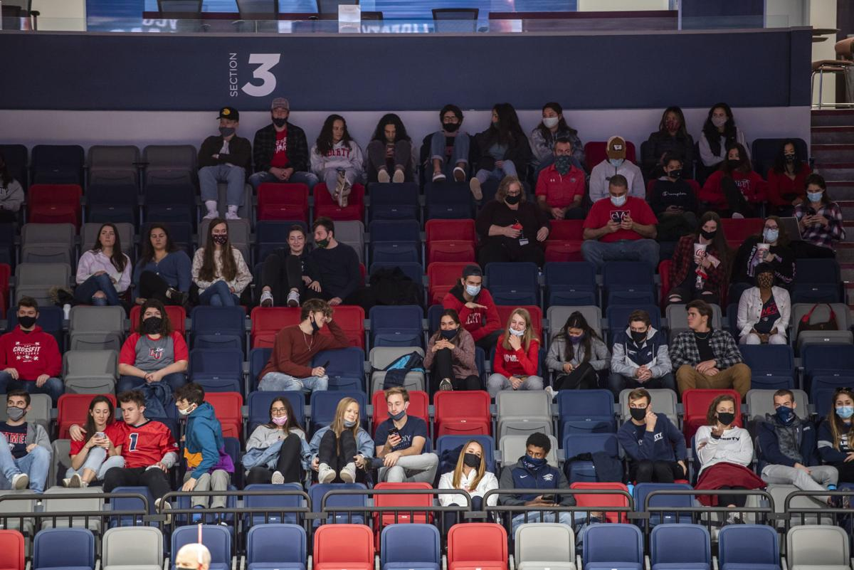 Students in Liberty Arena