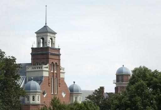 Main Hall, Randolph College campus, file photo, horizontal