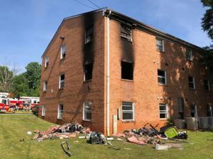 James River Apartment fire started by children playing with lighters