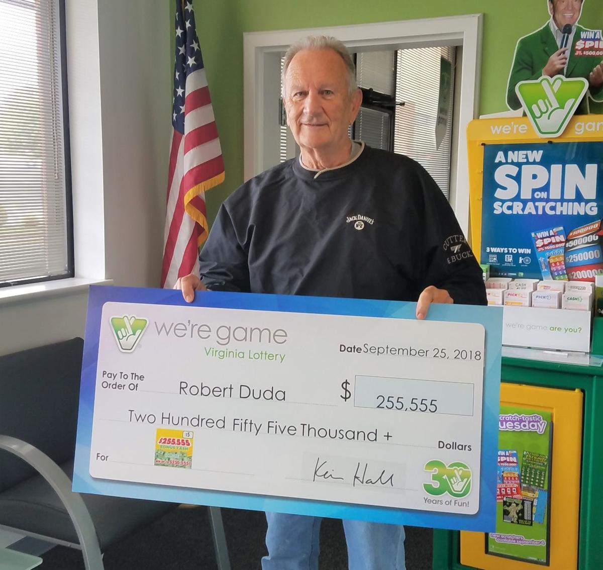 Lynchburg Man Wins $255,555 In Virginia Lottery Game