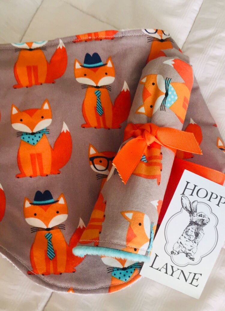 Fox burp cloth and bib.jpg