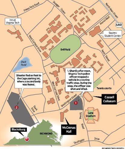Virginia Tech Map News Newsadvance Com