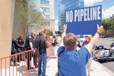 Atlantic Coast Pipeline protests at FERC