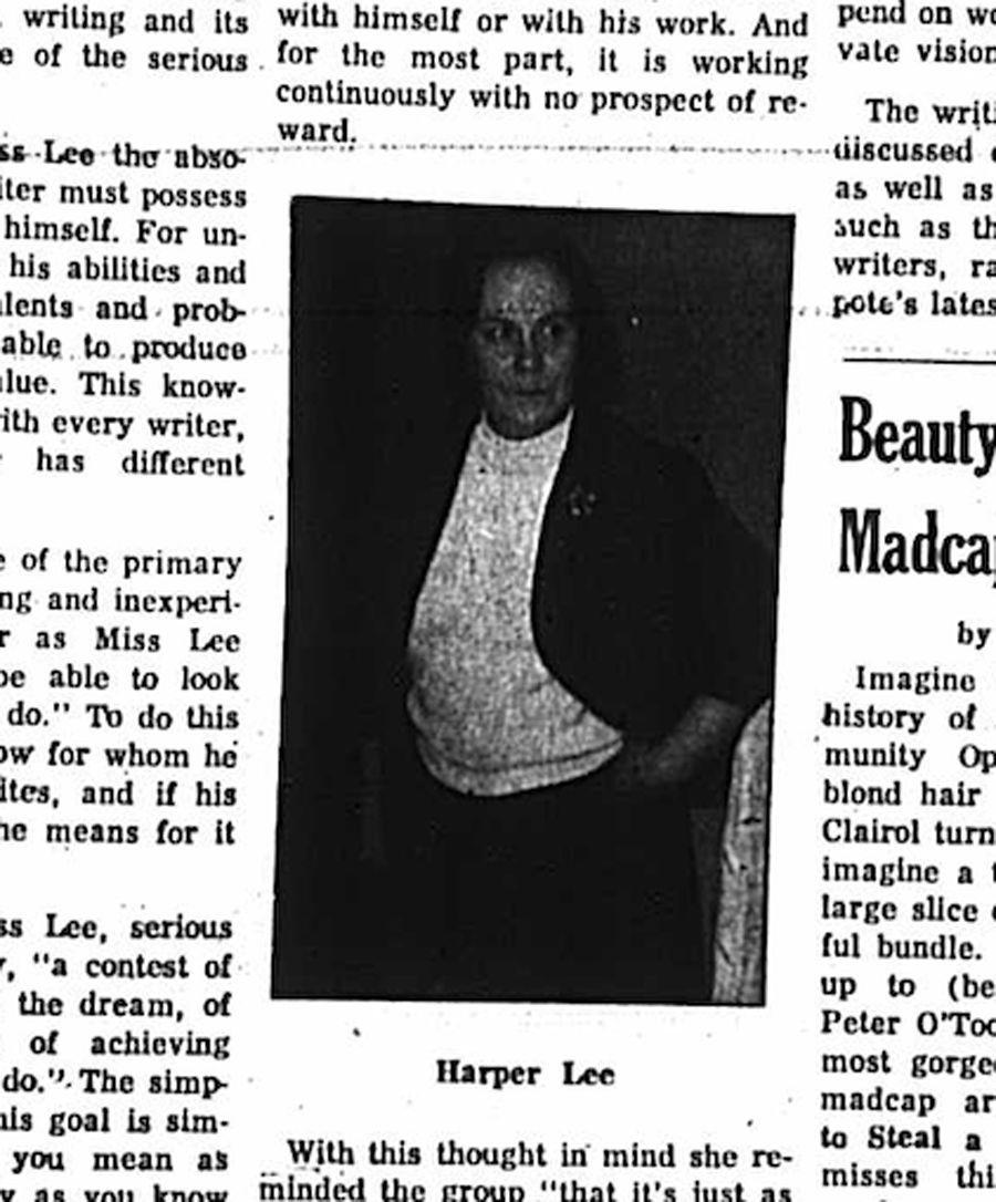 Harper Lee -- Sweet Briar College newspaper