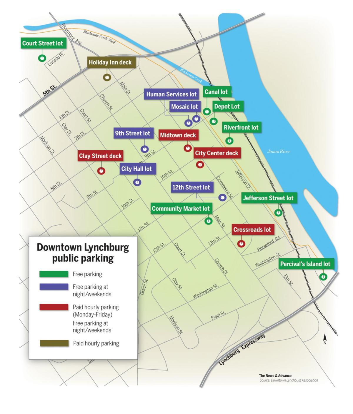 Lynchburg Hopes New Signs Clarify Downtown Parking