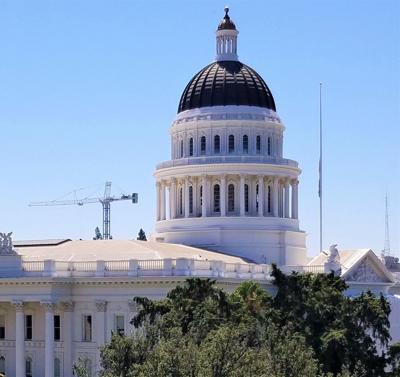 Capitol With Crane