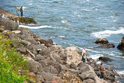 Fishing Bradford Island
