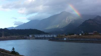 Rainbow Over Bonneville